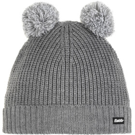 Eisbär Ponti Pompon Hat Kids, grey mottled/white